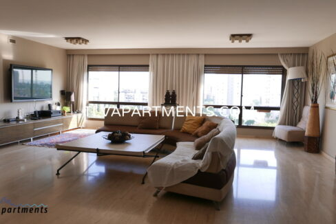 A huge and fully furnished apartment