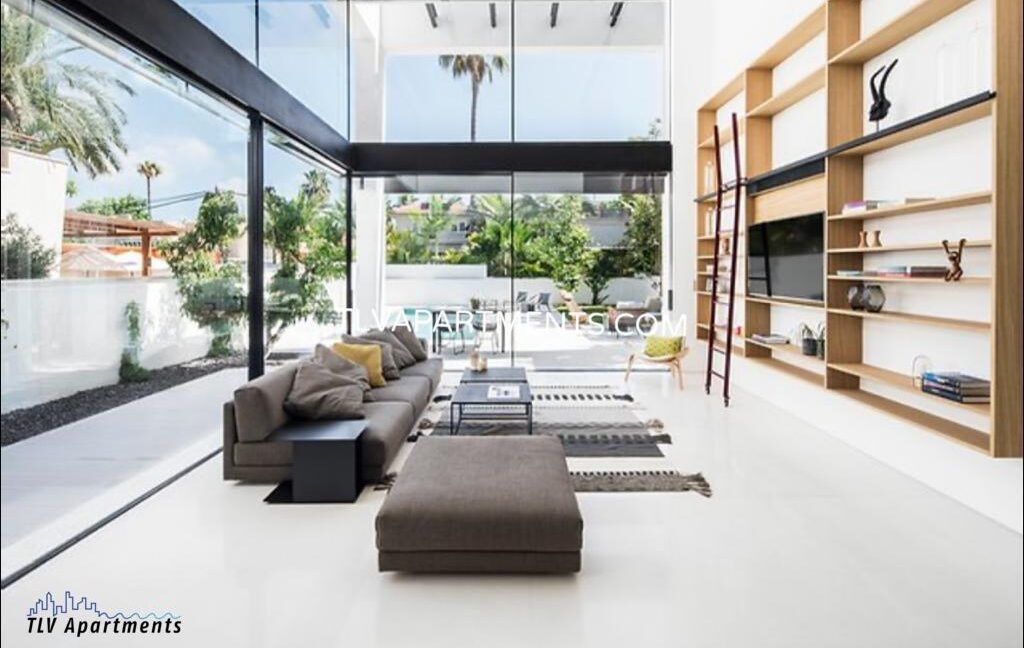 A new modern house with beautiful garden